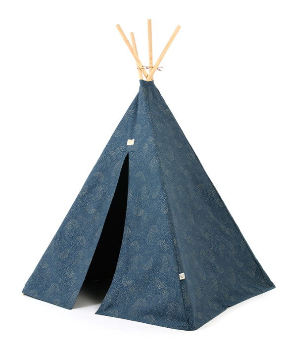 Phoenix-teepee-tipi-gold-bubble-night-blue-nobodinoz-1