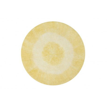 washable-rug-rounded-tie-dye-yellow