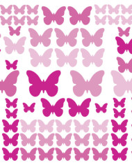 RMK2713SCS_Pink_Flutter_Butterflies_Wall_Decals_Scattered-580×580