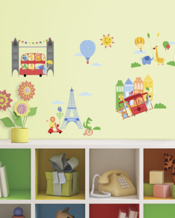 RMK3023SCS_Animals-in-the-City-Wall-Decal-Roomset-580x580