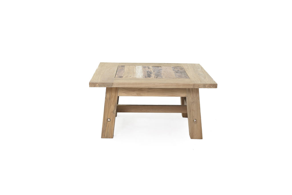 Τραπέζι Σαλονιού Rust Teak Coffe Table Little Big Things