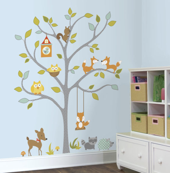 RMK2729SLM_Woodland_Fox__Friends_Tree_Peel_and_Stick_Wall_Decals_RS-580x580
