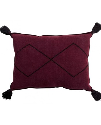 washable-rectangular-cushion-bereber-burgundy
