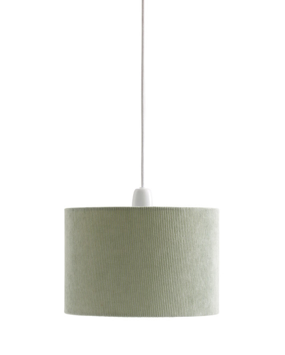 1000394 Lampshade Ceiling Corduroy Green_1_S
