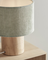 1000396 Table Lamp Corduroy Green_1_M