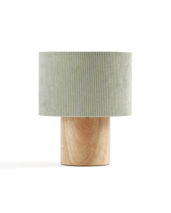 1000396 Table Lamp Corduroy Green_1_S