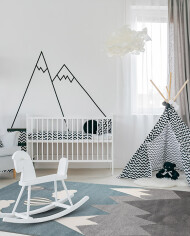 Child,Room,With,White,Furniture,,Carpet,,Tent,And,Wall,Sticker